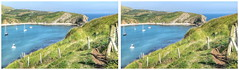 Lulworth Cove in 3D (Non Paratus) Tags: uk england water coast stereoscopic stereophotography 3d cove dorset englishchannel lulworthcove jurassiccoast