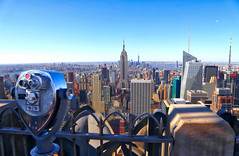 Top Of The Rock (ISO 69) Tags: newyorkcity travel usa newyork america view manhattan elements empirestatebuilding rockefellercentre topoftherock flickrtravelaward