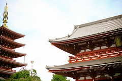 A glimpse of Tokyo  (tsubasa8336) Tags: travel sky tokyo   asakusa