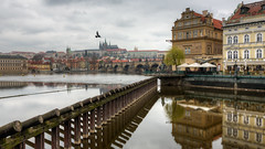 Charles bridge (Peter Nystroem) Tags: city reflections river spring europe prague prag praha historic charlesbridge vltava stvituscathedral karlvmost 2016 karlsbron katedrlasvvta