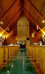 Garden of Prayer MB Church - Broadview (Landmarks Illinois) Tags: wood brick church religious interior broadview proviso