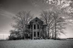 jimmy (Rodney Harvey) Tags: county ohio house brick abandoned rural decay jimmy eerie creepy spooky infrared tool darke