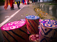 Bengali New Year - DugDugi (willestanvir) Tags: new music color colour colors photo paint colours outdoor year celebration bangla shahbag bengali pohela boishakh noboborsho    dugdugi