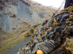 Honister_Via Ferrata (16 of 73) (Kevin John Hughes) Tags: bridge england lake snow mountains net landscape scary burma rope cargo climbing pike keswick buttermere honister dostrict fleetwith mountineering