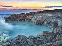 Volcano (dianacherevatova) Tags: travel indonesia dawn volcano java like crater ijen bestmoment