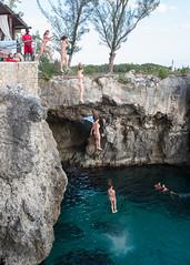 Franca and Dave's trip to Jamaica (DavezPicts) Tags: vacation cliff bar island jump bikini jamaica carribbean ricks