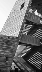 staircase (Ralf Pelkmann) Tags: wood shadow bw staircase