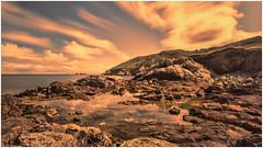 Venus Pools on Mars (NED_KELLY_GUY) Tags: outcrop clouds landscape sony rocky guernsey rockpools sarkisland venuspools ndgrad 10stop coastscape topazadjust nex6 sel1018