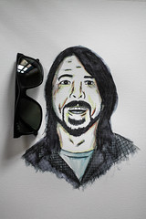 dave rayban (nicouze) Tags: france art smile dave illustration painting paper paint ray drawing dessin peinture foo draw fighters ban papier lunettes grohl nicouze