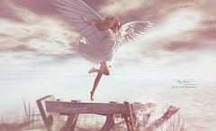 RM ~ Art Of Poses ~ Angels Fly (Roy Mildor*.  cs*.) Tags: art water angel pose photography fly photo wings posing animation romantic rmartofposes