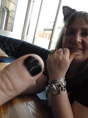 Goffic thumb (rubber rat productions) Tags: england yorkshire whitby daft northyorkshire nailvarnish blackthumb whitbygothweekend
