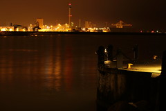 Night Harbor (Bwaah) Tags: water night harbor sweden helsingborg