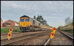 _JM17043 (saltley1212) Tags: train boards railway marker 667 swanage ballast class66 sileby cossington gbrf 66741 6g36