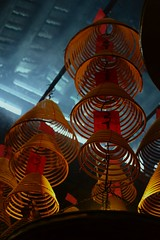 Looking Up (wawrus) Tags: china leica hk religious temple hongkong 50mm buddhist smoke sony religion chinese culture summicron photowalk practice kowloon incense tinhau shumshuipo a7rii