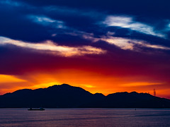 PhoTones Works #7816 (TAKUMA KIMURA) Tags: sunset nature silhouette landscape twilight scenery olympus     kimura    penf takuma     photones