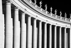 Colonnade (albireo 2006) Tags: blackandwhite bw italy rome roma blackwhite italia columns pb nb bn curve stpeterssquare bernini colonnade portico piazzasanpietro colonnato blackandwhitephotos blackwhitephotos