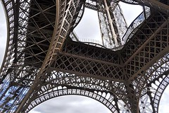 Eiffel Tower: Glass Floor (AntyDiluvian) Tags: trip paris france tower eiffeltower opening ironwork transparent lacy artistry glassfloor 2015 firstlanding transparentfloor