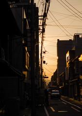Sunlight-9487 (math.buechel) Tags: street sunset sunlight japan kyoto sonnenuntergang strasse streetphotography sonnenlicht strassenfotografie