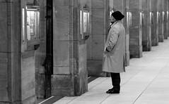 Concentration (TablinumCarlson) Tags: street leica bw news man monochrome germany lesen deutschland reading concentration nw north streetphotography m summicron m8 nrw sw mann dusseldorf 90mm dsseldorf 90 duesseldorf rheinland zeitung k knigsallee wz northrhinewestphalia rhinewestphalia nachrichten konzentration newspapaper