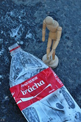 Sadness (honzagreen) Tags: road wood bus station sadness brother over figure cocacola overrun