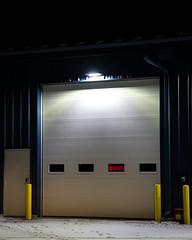 STAY (frostnip907) Tags: lighting blue yellow alaska night rural industrial garage