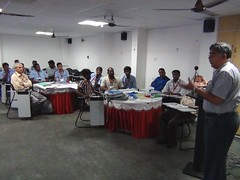Mr. S. Ramachandran, Executive Director of Super Auto Forge (SAF) addressing the SMEs during SCORE training in Chennai, India (ILO in Asia and the Pacific) Tags: india industrial employment working social seco dialogue relations conditions smes norad tripartism