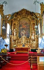 Altar-mor da igreja de Santa Marinha (vmribeiro.net) Tags: santa portugal church nova bandeira geotagged sony vila porto igreja tamron gaia marinha matriz prt altarmor a350 geo:lat=4113618401 geo:lon=861461431