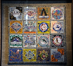 Quilt No. 2 (NJ Baseball) Tags: seattle art washington mariners safecofield licenseplates seattlemariners americanleague 2015 daygame majorleagues