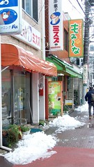#6536 snow on side of shopping street (Nemo's great uncle) Tags: snow   funabashi  setagayaku tky