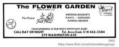 1963 flower garden (albany group archive) Tags: ny flower garden washington albany avenue 1963