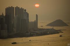 HK Sunset 037A0031 (lycheng99) Tags: ocean sunset hk sun building water buildings island hongkong coast harbor dusk shore orangesky victoriaharbour victoriaharbor hongkongharbour hongkongharbor hongkongskyline