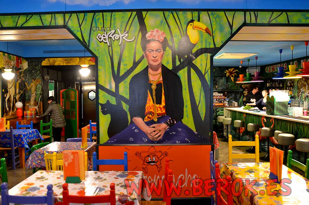 The world 39 s best photos of fridakahlo and graffiti for Mural mexicano