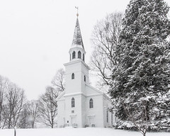 The Meeting House (brianloganphoto) Tags: county new york old school orange house snow ny newyork church architecture landscape day meeting architectural baptist historical orangecounty blizzard warwick conditions oldschoolbaptistmeetinghouse