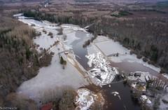 River Raudna (BlizzardFoto) Tags: ice water flood aerialphotography vesi j icejam soomaa aerofoto leujutus karuskose soomaanationalpark soomaarahvuspark viiesaastaaeg raudnajgi jminek riverraudna