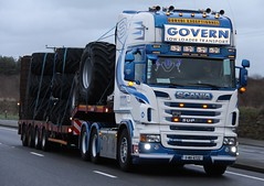 Govern (fannyfadams) Tags: uk ireland irish v8 lhd anglesey northwales holyhead a55 rseries scaniar560 governlowloadertransport