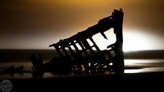 Iredale Lights (Jeffery P.) Tags: longexposure beach oregon coast peter shipwreck astoria iredale