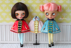 Anniedollz Blythe Vintage Regimental Uniforms Cape  in 3 color.