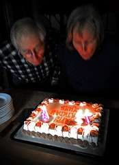 Birthday cake (SteveMather) Tags: birthday ice cake candles cream clean sheet dairyqueen dq spe topaz iphone 2016 6s denoise anthropics smartphotoeditor