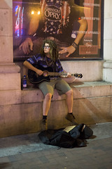 white person with dreads and guitar (Nashville Street Photography) Tags: streetphotography streetperformer dreads guitarplayer dreadful downtownnashville whitepersondreadlocks