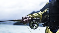 pescadores 3 (vicente.rosselot) Tags: road fish water contrast fly agua peces contraste deporte pescado pesca highlight brillos rode caa pescar flyfish deportiva trucha salmn lnea anzuelo
