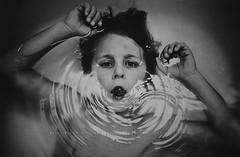 Be yourself. Be true to that, to your heart. Patience. See what happens if you step back instead of bounding forward.  Nora Roberts (privizzinis passion photography) Tags: boy people blackandwhite texture water monochrome face mouth children person hands child grain surreal bubble chilldhood
