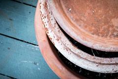 terra cotta-1 (DiPics) Tags: texture garden curves pots clay curved