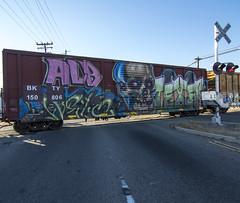 NETO . PAWN . TEXER (TRUE 2 DEATH) Tags: railroad train graffiti tag graf trains railcar alb railways railfan freight pawn neto freighttrain rollingstock texer benching freighttraingraffiti