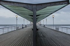 Bournemouth Pier (tim.clarke37) Tags: sea seascape storm beach architecture pier seaside symmetry walkway dorset imogen bournemouth beachscape