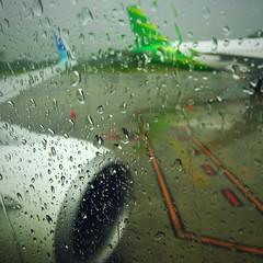 2016, Medan, Sumatra, Indonesia (carythary) Tags: color window rain sumatra airplane airport drop garuda medan
