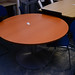 Cherry circular meeting table