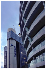 Window Cleaners from Milk Tray (theimagebusiness) Tags: street city uk travel urban london tower tourism window publicspace buildings outside outdoors milk citylife visit rope location adventure tray dailylife dangling citycentre built climbers urbanlife windowcleaners inmarsat workingatheight cityculture theimagebusiness theimagebusinesscouk
