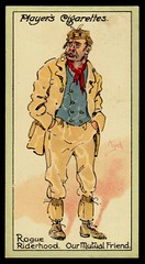 Cigarette Card - Rogue Riderhood (cigcardpix) Tags: vintage advertising ephemera caricature dickens cigarettecards