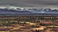 A view to remember... (Nameesh) Tags: usa mountain alaska landscape highway outdoor wilderness denali hdr