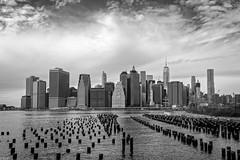 Lower Manhattan - Winter B&W (Wallace Flores) Tags: newyorkcity brooklyn nikon worldtradecenter eastriver newyorkstate wallstreet lowermanhattan brooklynbridgepark d4s